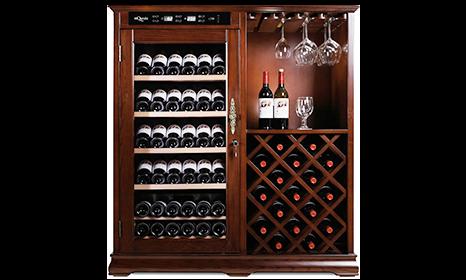 American Oak 100h Wine Cabinet