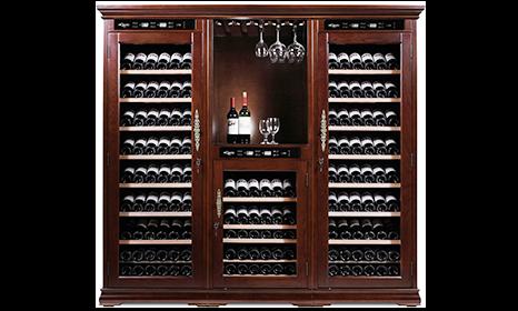 American Oak 392 Wine Cabinet